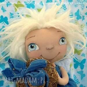 dekoracje aniołek lalka - dekoracja tekstylna, ooak, aniołek, słomkowy