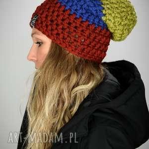 czapka tricolour 04, kolorowa, oryginalna, prezent, unisex, snowboard, szalona