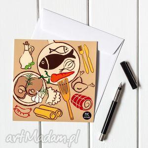 AUTORSKA KARTKA POCZTOWA potrawy, pocztówka, kartka, grafika, ilustracja, rysunek,