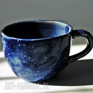 hand made ceramika kubek galaktyczny granatowy jumbo
