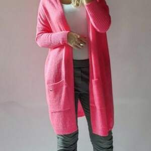 świąteczny prezent, kardigan damski oversize, kardigan, długi, sweter