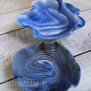 ręcznie zrobione dekoracje dwie miseczki porcelanowe technika nerikomi