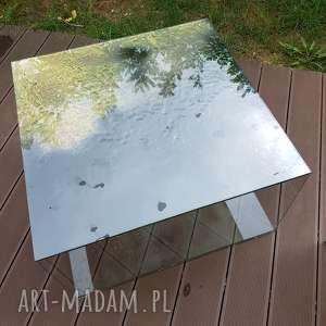 unikalny, stolik szklany kawowy, tabl, szkło, glass, decor, design, stolik