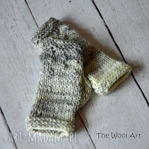 rękawiczki mitenki - rękawiczki, mitenki, naręce, prezent, wełniane