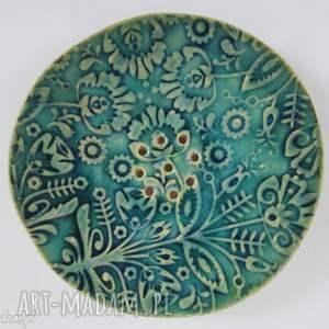 ceramika folkowa mydelniczka ceramiczna 2, podstawka, na mydło, dekoracyjna
