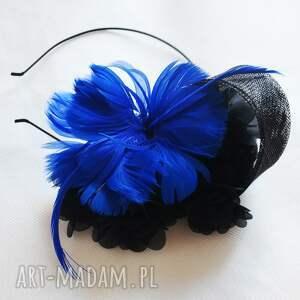 hand-made ozdoby do włosów kobaltowa dama