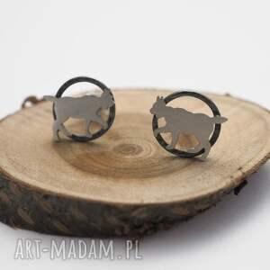 Srebrne kolczyki dzikie rysie jachyra jewellery srebro, kolczyki
