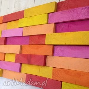 drewniany obraz na zamówienie, ściana, drewno, mozaika, obraz, ozdoba, dekoracja dom