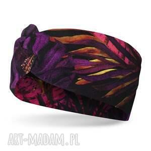 handmade opaski kolorowa opaska wiosenna z węzłem