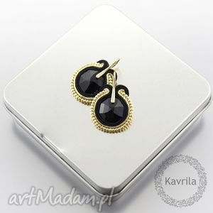 kolczyki soutache little black