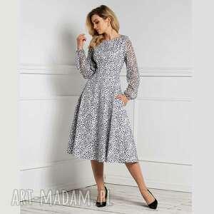 sukienka aniela total midi margaretta, midi, długa