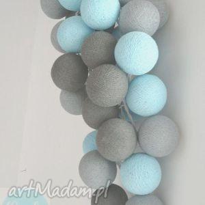 ręcznie zrobione lampy qule lampki cotton ball lights magia turkusu 20 qul