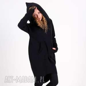 Bluza sukienka tunika Saloni mix, sukienka, tunika, bluza, długa, z-kapturem,