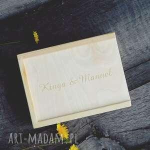 Pudełko drewniane wymiar wew. ok. 17 x 12 4 cm, drewno, pudełko, zdjęcia, album