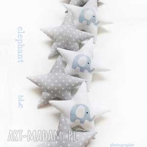 pokoik dziecka elephant blue - girlanda, słoń, gwiazdki, słonik