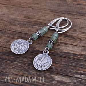 świąteczny prezent, szkło antyczne i moneta, srebro, szkło, antyczne, zafganistanu