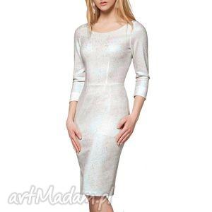sukienki sukienka dita midi selena , midi, sukienka, błyszcząca, refleksy, elegancka