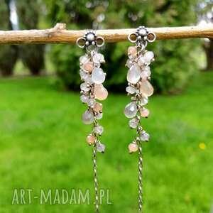 Słoneczne grona biżuteria onyksela kamień,