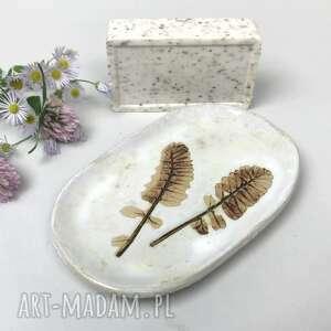 """Ceramiczna mydelniczka ręcznie robiona """"bliźniaki"""" ceramika"""