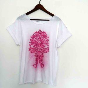 t-shirt od zokozola 6a, asymetryczna, tunika, bluzka, ornament
