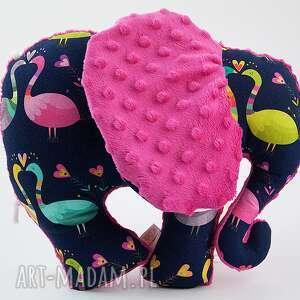 Słoń PAWIE fuksja, przytulanka, maskotka, słoń, słonik
