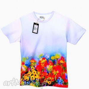 koszulki bluzka damska - abstract spring flowers jakość premium, damska, artystyczna