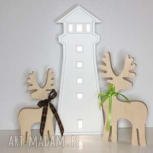 Podświetlana LATARNIA MORSKA - lampka, lampa, latarnia-morska, morze, vintage,