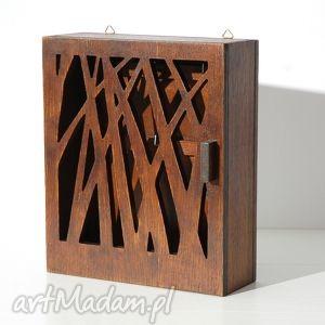 dekoracje skrzynka na klucze natura średni brąz, klucze, skrzynka, szafka, drewniana
