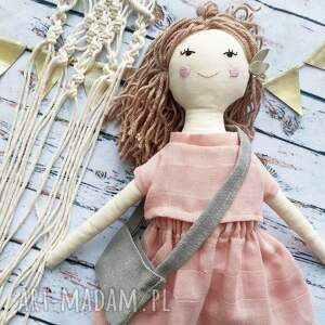 święta, pani lala, lalka, szmacianka, dziewczynka, len, naturalna, przytulanka