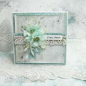 w dniu imienin - kartka z pudełkiem, imieninowa kartka, dla ciebie, urodzinowy