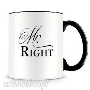 Prezent Mr Right - ceramiczny kubek z autorskim nadrukiem, kubek, mr