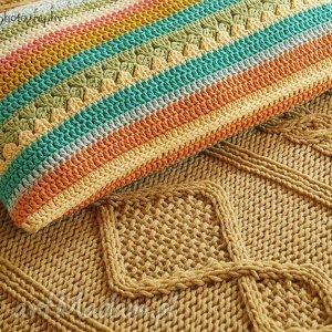 poduszka multikolor no 5, poduszka, poszewka, bawełna, kolorowa, szydełkowa