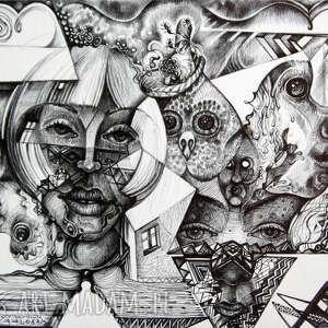 nieprzewidywalne koleje losu, rysunek, fantastyka, twarze, portret, postać