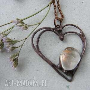 łańcuszek z wisiorkiem na walentynki serce cytryn, serce, serduszko, wisiorek