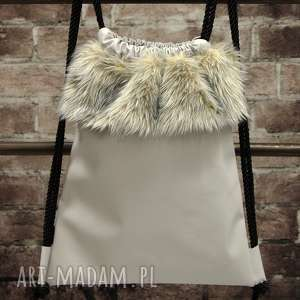 hand-made plecaki bbag grey wind plecak worek