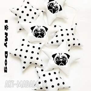 MOPS - girlanda DOG, girlanda, gwiazdki, mops, pies, dog