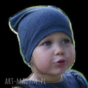 dla dziecka czapka bawełniana, granatowa, niemowlęca, czapka, czapeczka, czapa