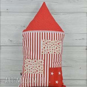 poduszka dekoracyjna 30x55cm - domek kamieniczka - bawełna, przytulanka, prezent