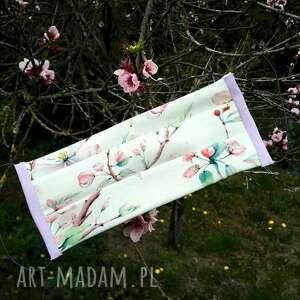 maseczki kwiat jabłoni, maseczka, ecru, róż, ochrona