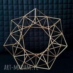 geometryczny mosiężny wieniec w skandynawskim stylu 26 cm himmeli