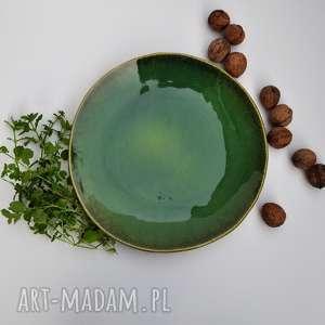Patera ceramiczna talerz z liściem ceramika tyka ceramika