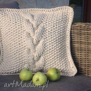 Poduszka dekoracyjna ze sznurka bawełnianego, poduszka, sznurek, dekoracja, homedecor