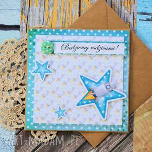 kartka - będziemy rodzicami - kartka, scrapbooking, narodziny, chłopczyk, rodzice