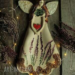 pod choinkę prezent, anioł wrzosowy, anioł, aniołek, na chrzest, chrzciny