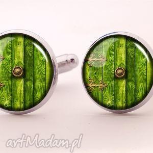 hobbit - spinki do mankietów - zielone spinki do mankietów, pierścieni