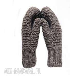 Dwuwarstwowe jasno brązowe rękawiczki mondu rękawiczki, mitenki