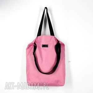 na ramię shoperka pojemna torba różowa, torba, duża
