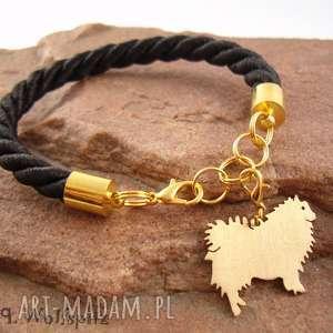 bransoletka szpic wilczy pies nr 19, bransoletka, pies, rękodzieło
