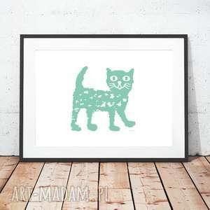 plakaty plakat z kotkiem, miętowy kotek plakat, kotem,ładny obrazek