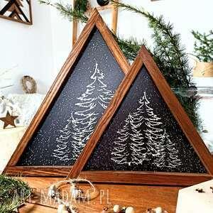 dekoracje trójkąt xl winter, drewniana dekoracja świąteczna, choinka